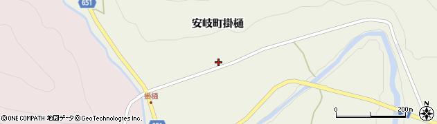 大分県国東市安岐町掛樋805周辺の地図