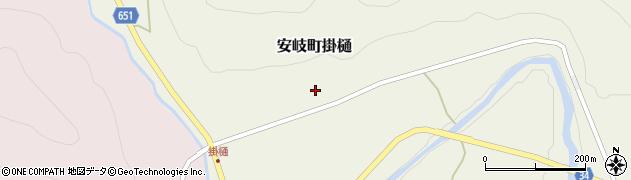 大分県国東市安岐町掛樋810周辺の地図