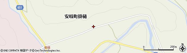 大分県国東市安岐町掛樋831周辺の地図