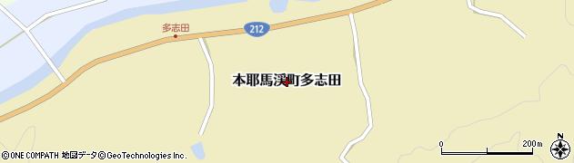 大分県中津市本耶馬渓町多志田周辺の地図