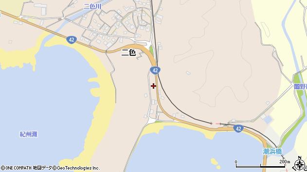 〒649-3512 和歌山県東牟婁郡串本町二色の地図