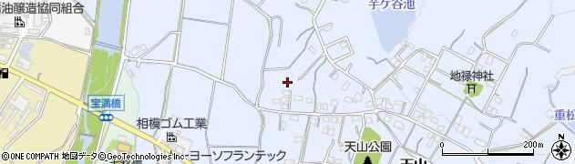 福岡県筑紫野市天山周辺の地図