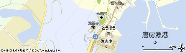 瀧福寺周辺の地図
