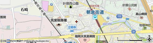 福岡県筑紫野市針摺西周辺の地図