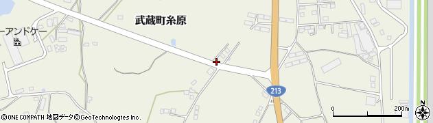 大分県国東市武蔵町糸原3344-16周辺の地図