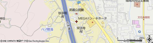 福岡県筑紫野市武蔵周辺の地図