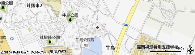 福岡県筑紫野市牛島周辺の地図