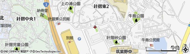 福岡県筑紫野市針摺東周辺の地図