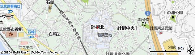 福岡県筑紫野市針摺北周辺の地図