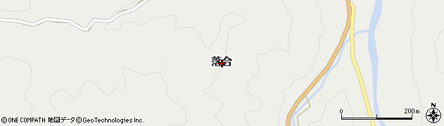 福岡県田川郡添田町落合周辺の地図