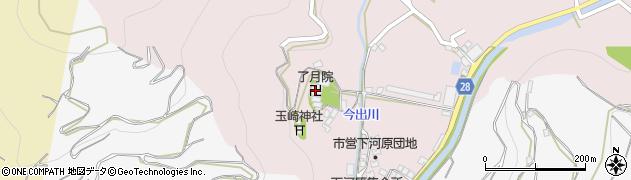 了月院周辺の地図