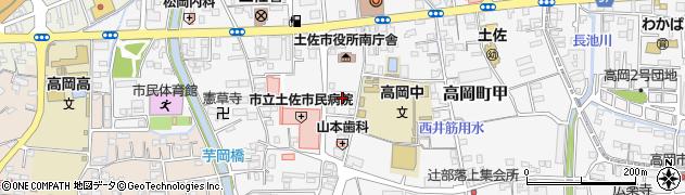 高知県土佐市周辺の地図