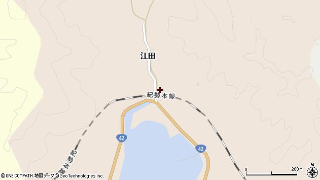 〒649-3521 和歌山県東牟婁郡串本町江田の地図