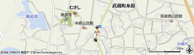 大分県国東市武蔵町糸原455周辺の地図