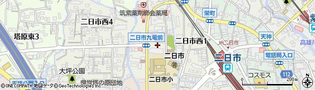 福岡県筑紫野市二日市西周辺の地図