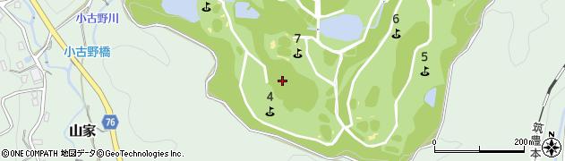 福岡県筑紫野市山家周辺の地図