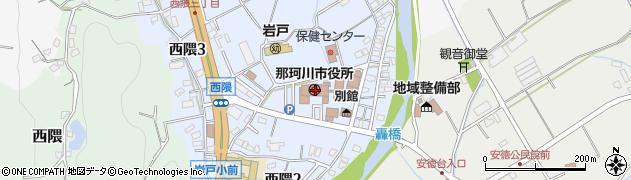 福岡県那珂川市周辺の地図
