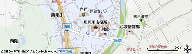 福岡県筑紫郡那珂川町周辺の地図