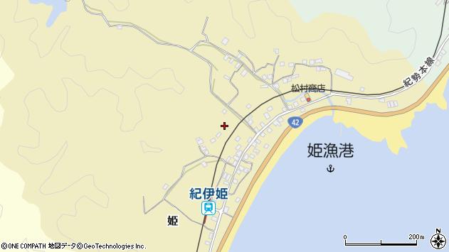 〒649-4125 和歌山県東牟婁郡串本町姫の地図