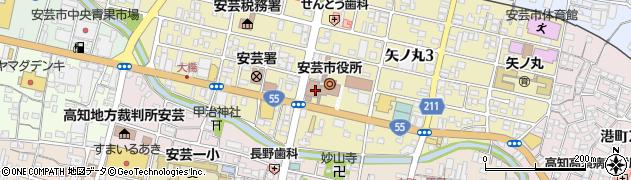 高知県安芸市周辺の地図
