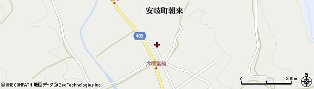 大分県国東市安岐町朝来3049周辺の地図