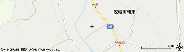 大分県国東市安岐町朝来岩尾周辺の地図