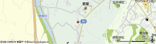 高知県高岡郡佐川町乙中組周辺の地図