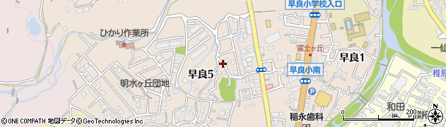 福岡県福岡市早良区早良周辺の地図
