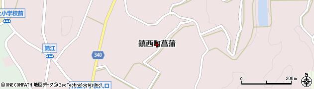 佐賀県唐津市鎮西町菖蒲周辺の地図