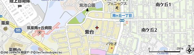福岡県大野城市紫台周辺の地図