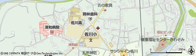 高知県高岡郡佐川町乙周辺の地図