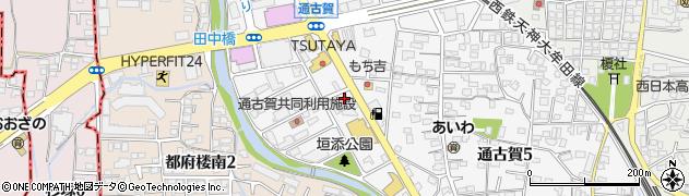 理容プラージュ 太宰府店周辺の地図