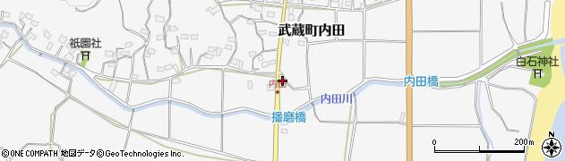 大分県国東市武蔵町内田590周辺の地図