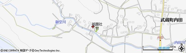 大分県国東市武蔵町内田1557周辺の地図
