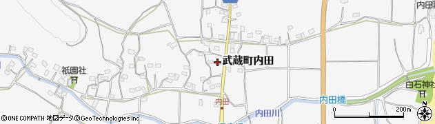 大分県国東市武蔵町内田1688周辺の地図