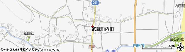 大分県国東市武蔵町内田1703周辺の地図