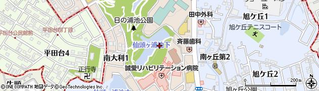 福岡県大野城市南大利周辺の地図