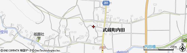 大分県国東市武蔵町内田1695周辺の地図