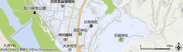 比地神社周辺の地図