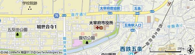 福岡県太宰府市周辺の地図