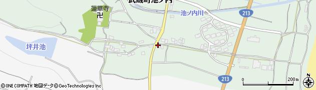 大分県国東市武蔵町池ノ内1743周辺の地図