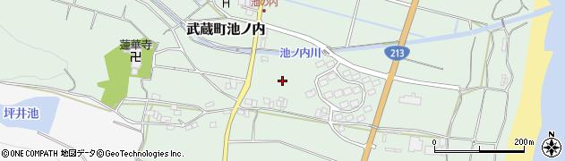 大分県国東市武蔵町池ノ内鳥越周辺の地図