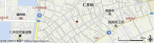 高知県高知市仁井田周辺の地図