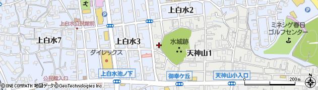 天神太神周辺の地図