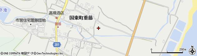 大分県国東市国東町重藤下水口周辺の地図