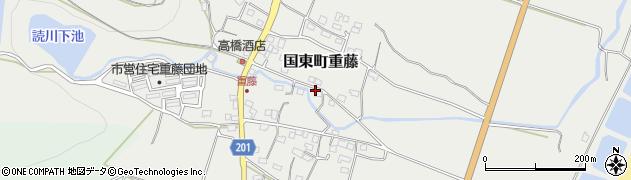 大分県国東市国東町重藤361周辺の地図