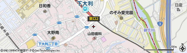 リアルディール下大利 キックボクシングジム周辺の地図