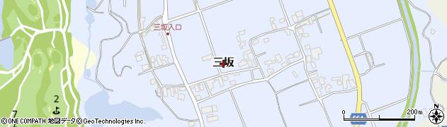 福岡県糸島市三坂周辺の地図