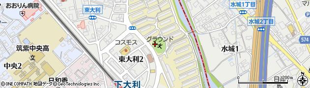 福岡県大野城市下大利団地周辺の地図