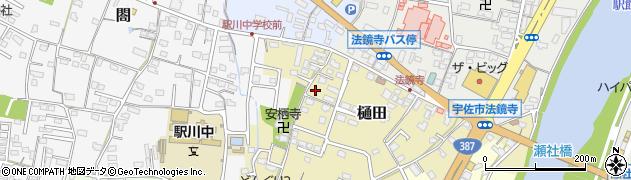 大分県宇佐市樋田周辺の地図